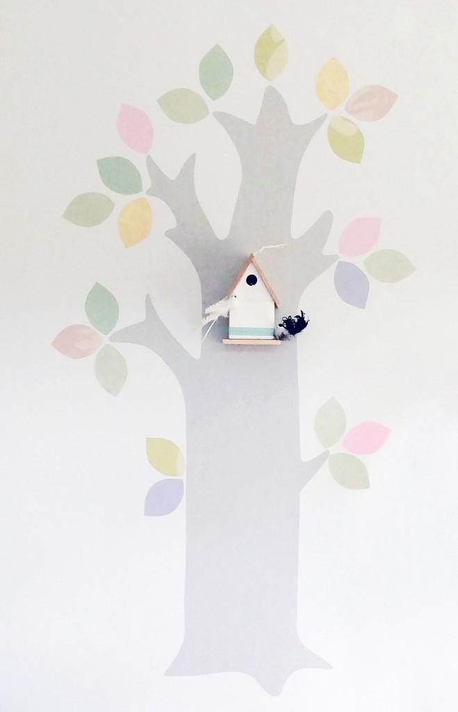 Tapet träd barnrum