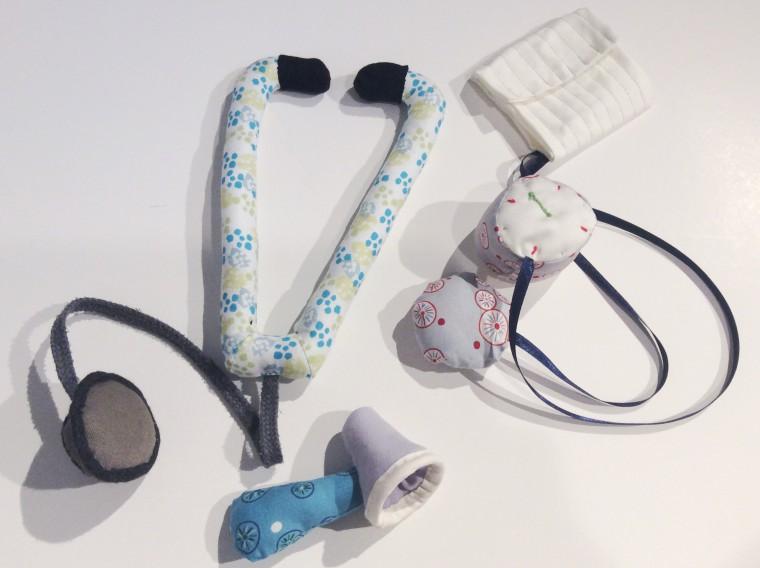 Stetoskop blodtrycksmätare sy själv