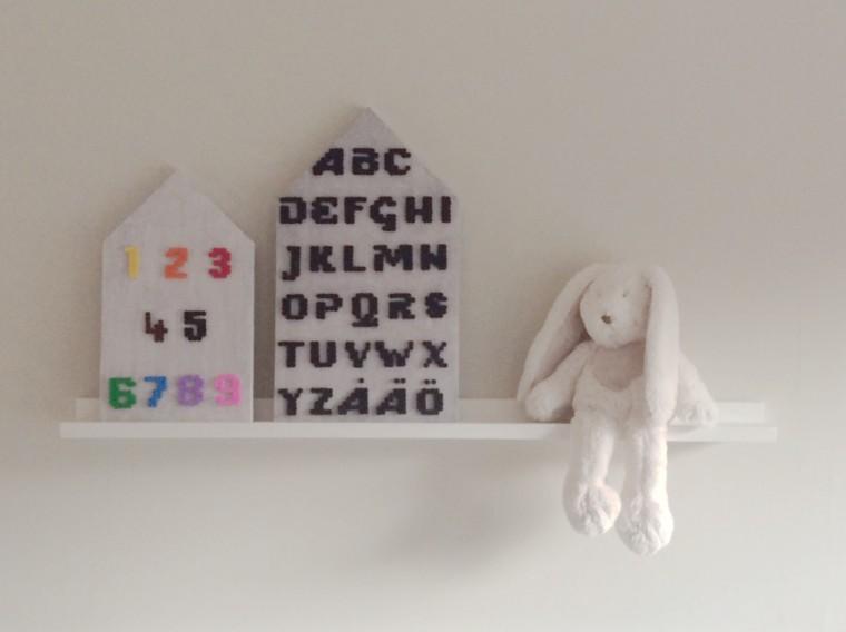 Nabbipärlor alfabetstavla